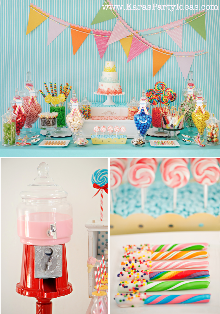 Candy themed decoration ideas best home design 2018 for Home sweet home party decorations