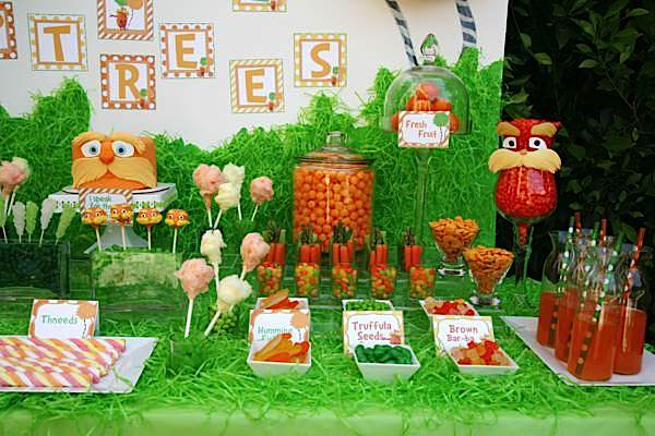 Kara S Party Ideas Quot The Lorax Quot Themed Party Dr Suess