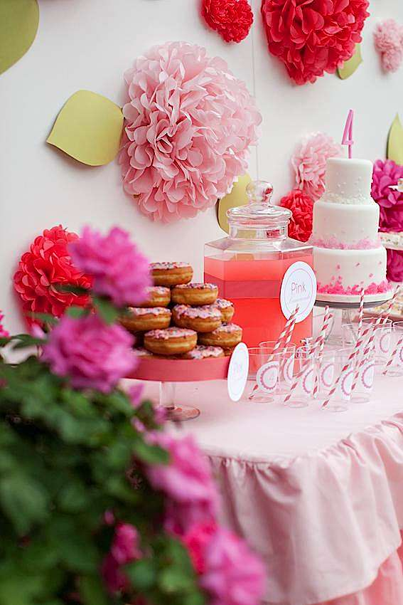 Kara S Party Ideas Pink Strawberry 4th Birthday Party