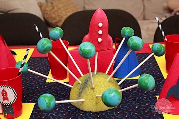 Kara S Party Ideas Rocket Ship Space 4th Birthday Party
