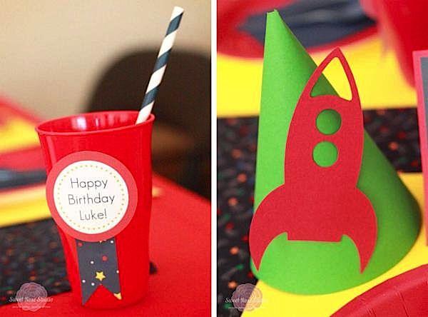 Kara's Party Ideas Rocket Ship + Space 4th Birthday Party