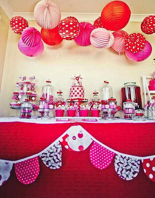 Kara S Party Ideas Hello Kitty Girl Pink Birthday Party Planning Ideas