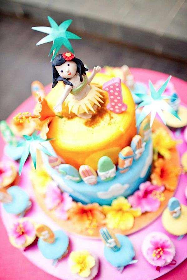 Kara's Party Ideas Aloha Luau Surf Colorful Hawaiian Beach ...