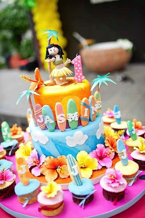 Hawaiian Themed Birthday Cakes For Adults