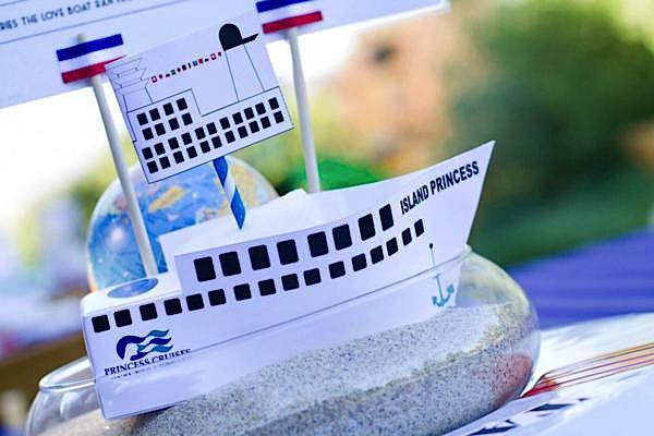 Karas Party Ideas Love Boat Themed Bon Voyage Farewell Retirement - Cruise ship theme party