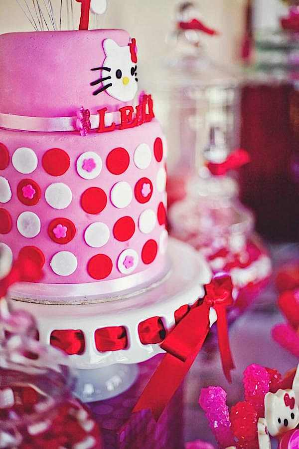 Kara S Party Ideas Hello Kitty Girl Pink Birthday Party