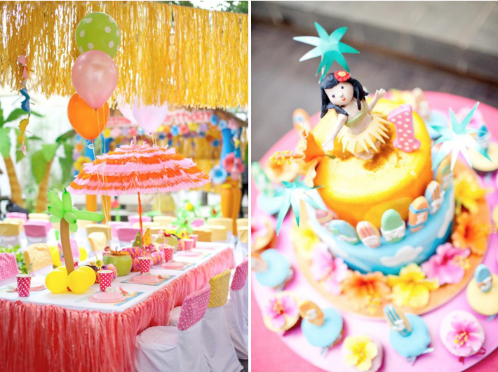 St Birthday Luau Cake Ideas