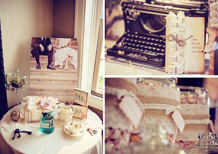 Kara\'s Party Ideas Vintage Shabby Chic + Burlap & Lace Wedding ...