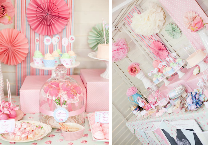 Kara S Party Ideas Shabby Chic Princess Girl Pink Vintage