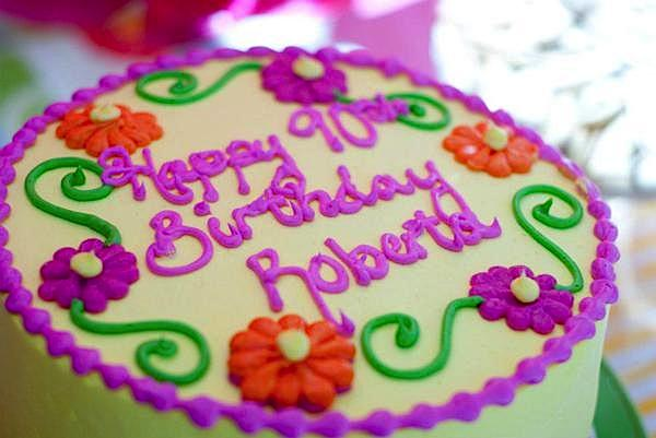 Kara S Party Ideas 90th Birthday Garden Flower Outdoor