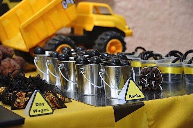 Kara S Party Ideas Mining Construction Truck Boy 3rd