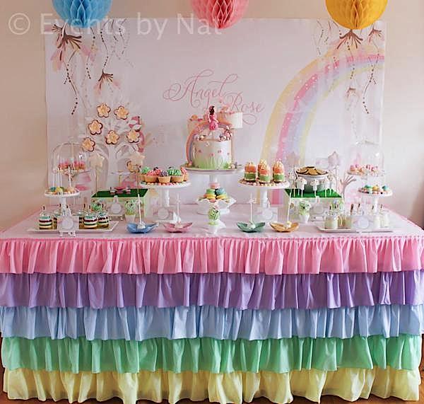 Karas Party Ideas Pastel Rainbow Fairy Girl Birthday Planning
