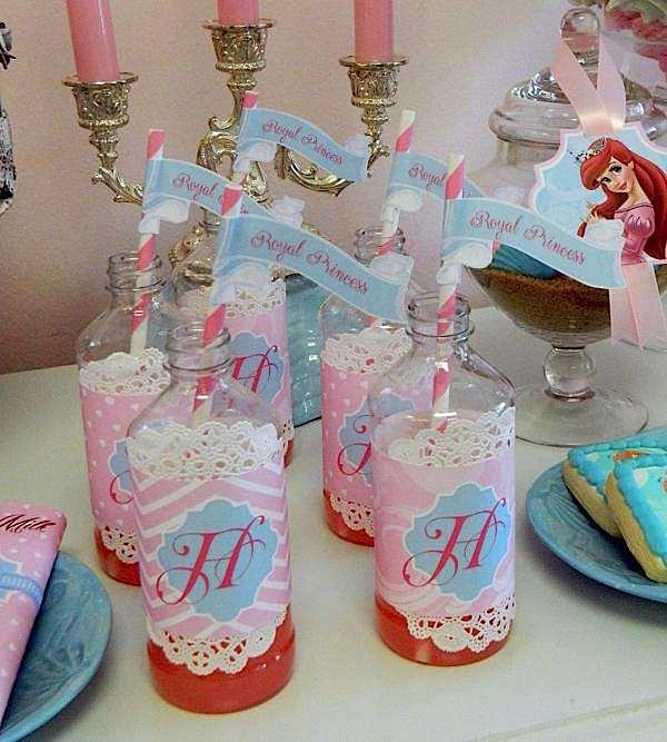 Kara S Party Ideas Royal Princess First Birthday Party: Kara's Party Ideas Disney Princess Arial Royal Girl