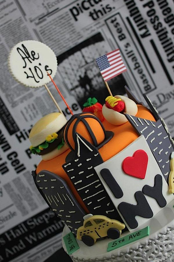 Karas Party Ideas New York City Big Apple 40th Birthday