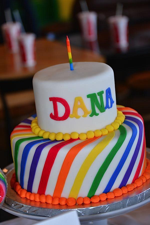 Kara S Party Ideas Rainbow Colorful Korean Dohl 1st
