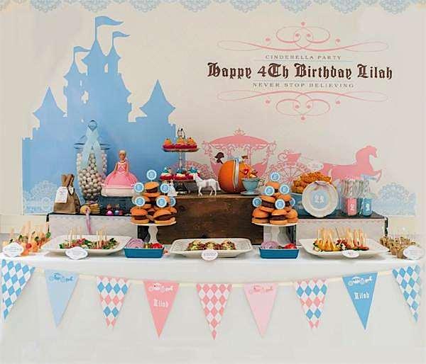 Kara's Party Ideas Cinderella Princess Girl Disney 4th