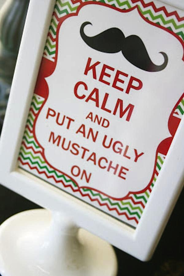 Kara S Party Ideas Ugly Sweater Mustache Adult Christmas