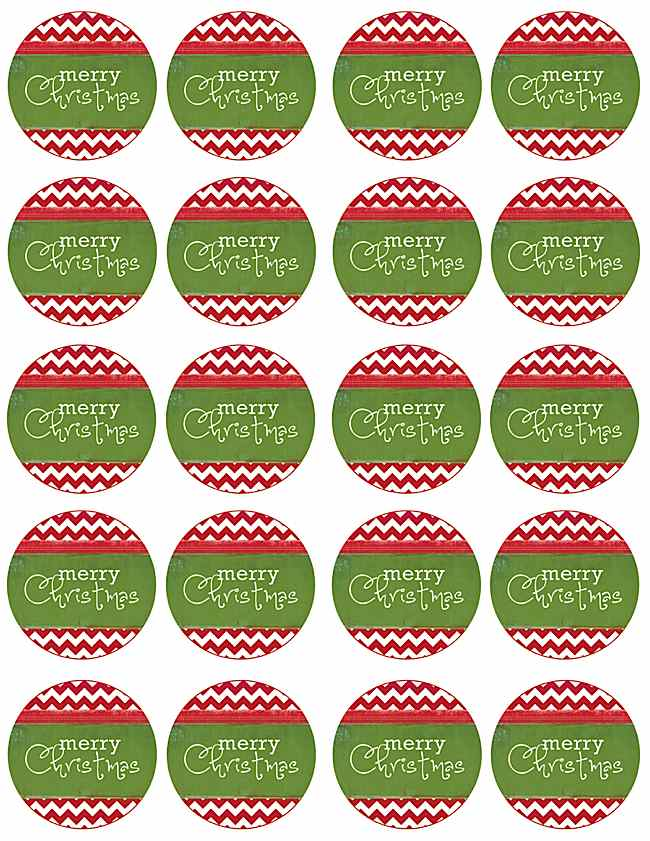 Christmas Toppers For Cupcakes.Kara S Party Ideas Free Printables Modern Festive Holiday