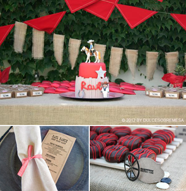 Kara's Party Ideas Western Themed 1st Communion Party