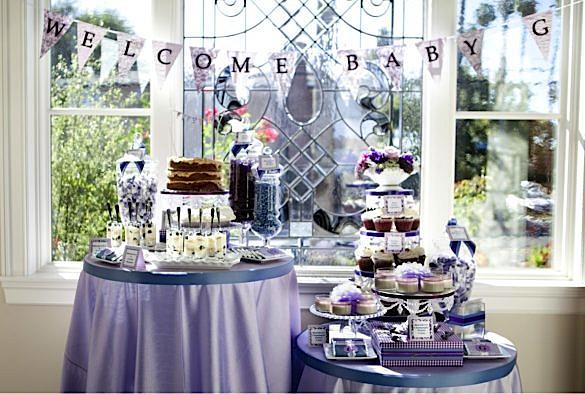 Kara s party ideas pretty purple girl elegant baby shower