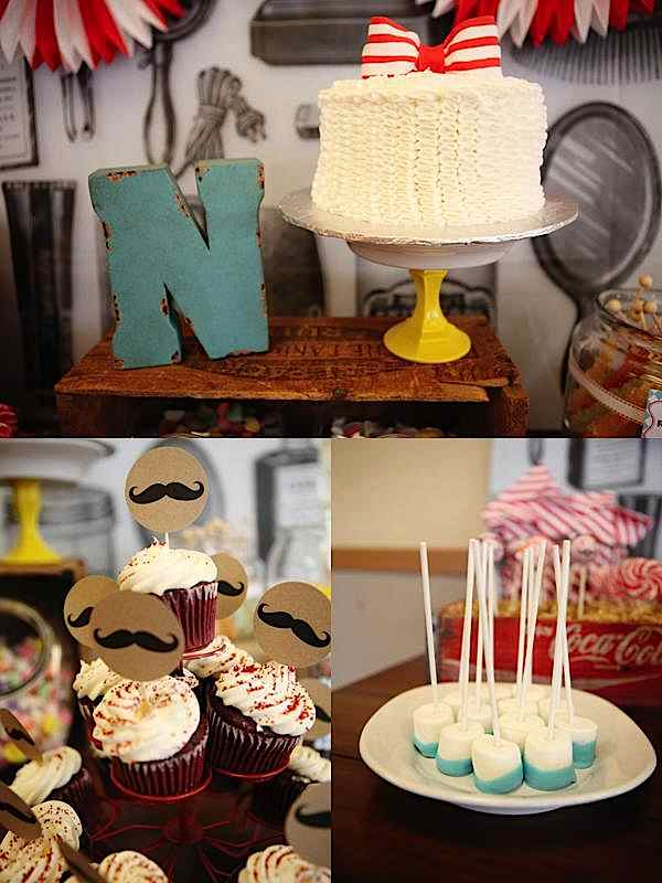 Kara's Party Ideas Barbershop Little Man Mustache Boy 1st ...