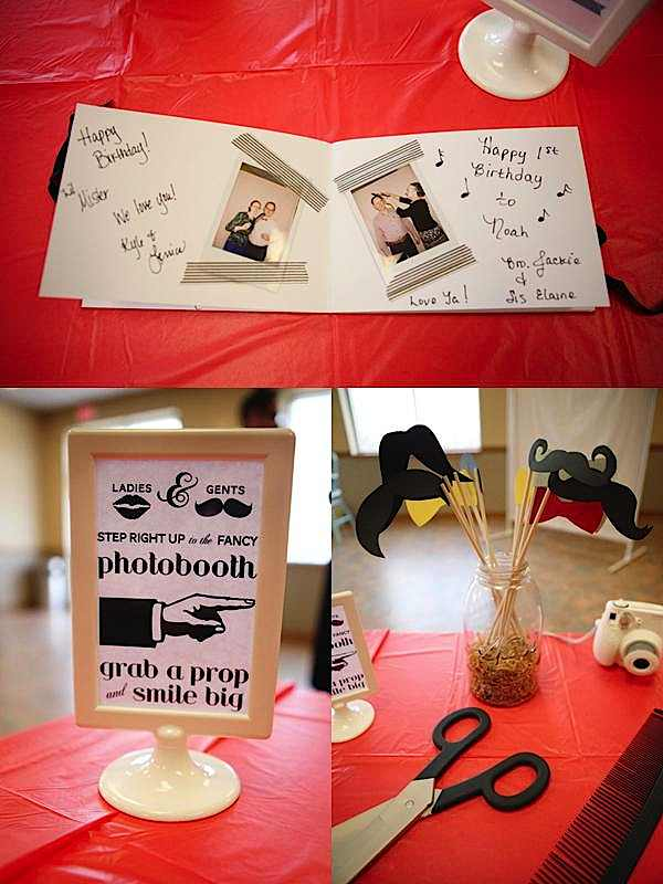 Items Used In This Mustache Barber Party