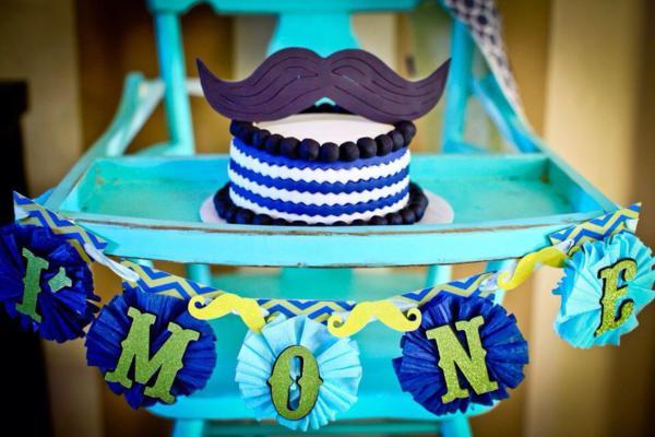 Little Man Mustache Party Boy 1st Birthday High Chair Banner Mustache Party Decorations Boy First Birthday One Banner
