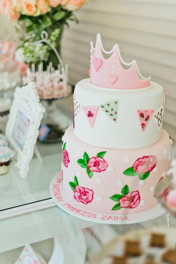 Karas Party Ideas Vintage Princess Girl Shabby Chic 4th Birthday