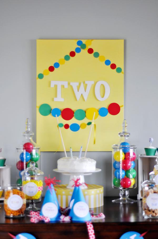 Kara S Party Ideas Ball Toy Circle Themed Boy 2nd Birthday