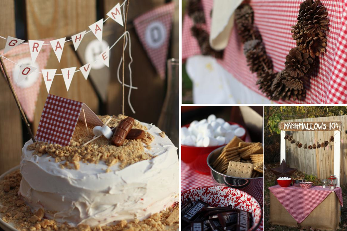 Kara S Party Ideas Camping Themed Girl And Boy Birthday