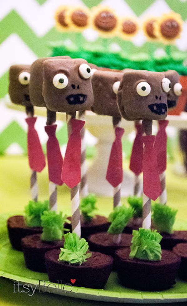 Plants Vs Zombie Cake Pops