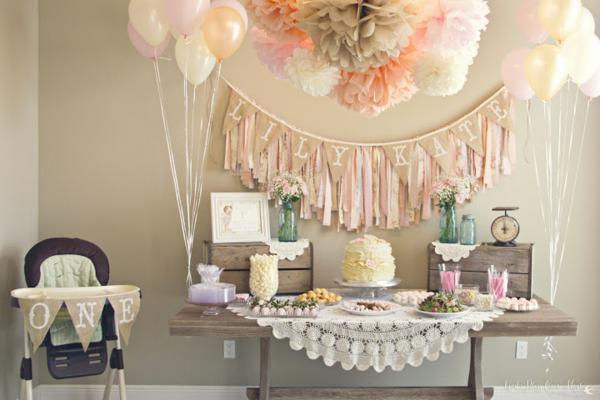 kara 39 s party ideas shabby chic girl vintage 1st birthday party planning ideas. Black Bedroom Furniture Sets. Home Design Ideas