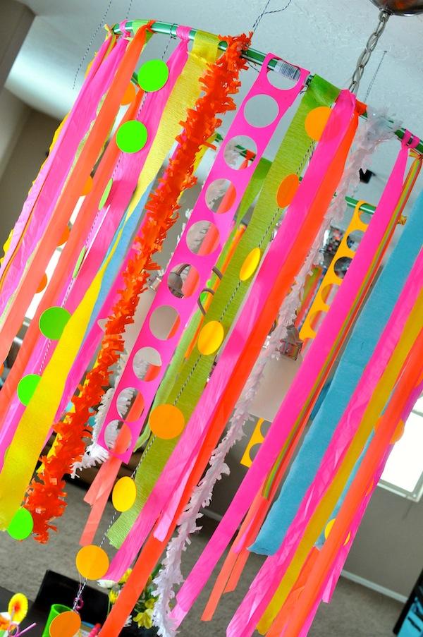 Kara S Party Ideas Neon Glow In The Dark Teen Birthday Party Dance Girl Decor Ideas