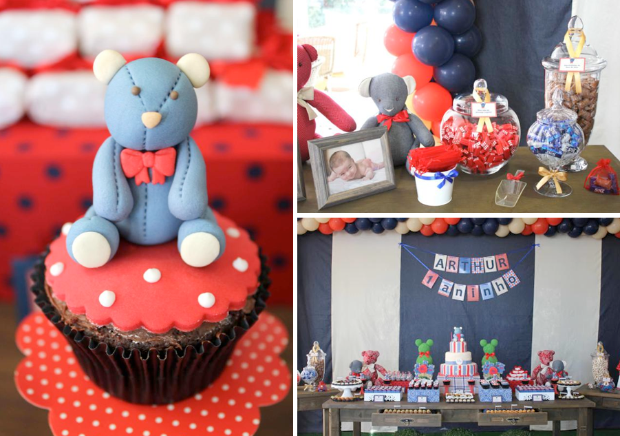 Kara S Party Ideas Teddy Bear Boy 1st Birthday Party
