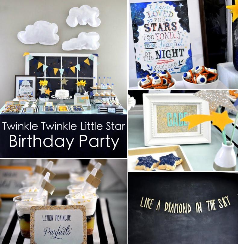 Kara S Party Ideas Twinkle Star Space 2nd Birthday Little