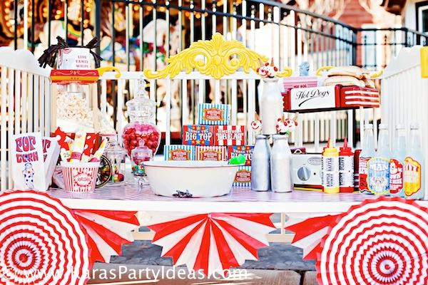 Kara 39 s party ideas circus train big top vintage carnival carousel themed birthday party ideas - Carnival theme party for adults ...