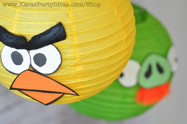 These Angry Birds Party Lanterns Were Simple To Make And Added So Much The