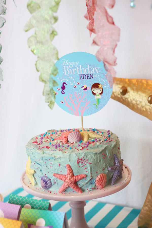 Kara S Party Ideas Whimsical Mermaid Girl Under The Sea