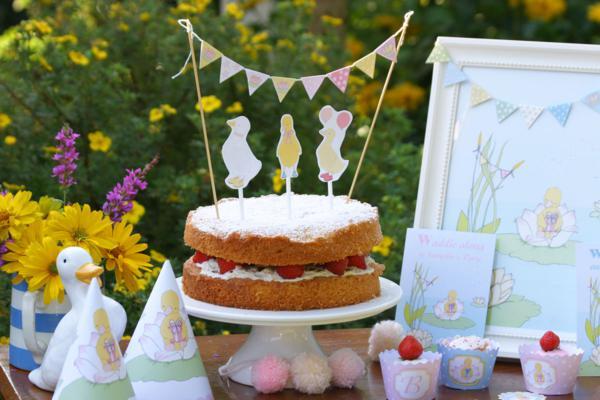 Karas Party Ideas Little Duckling Storybook Girl Boy 1st Birthday