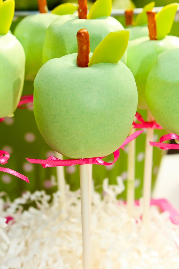 Kara S Party Ideas Apple Of My Eye Girl Pink Green Fruit