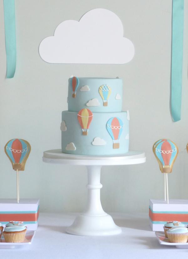 Kara S Party Ideas Hot Air Balloon Up In The Sky Boy Girl