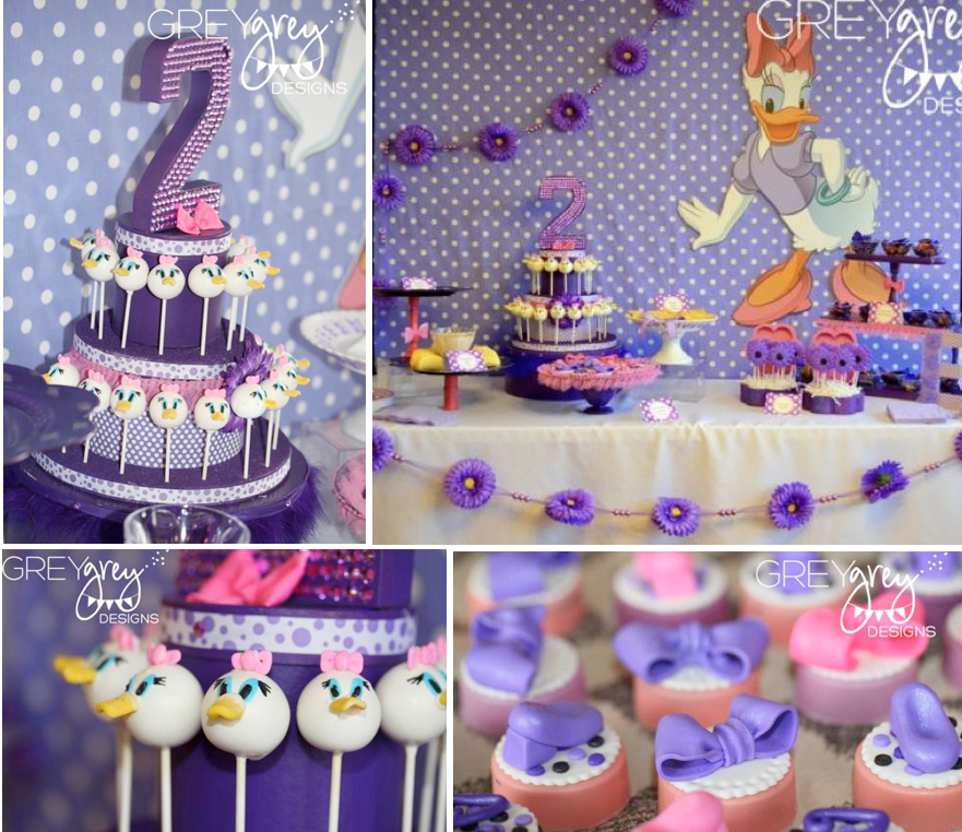 Kara's Party Ideas Disney Daisy Duck Purple Girl 2nd