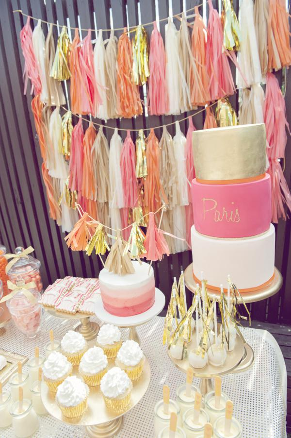 Kara S Party Ideas Orange Pink Gold Vibrant Girl1st