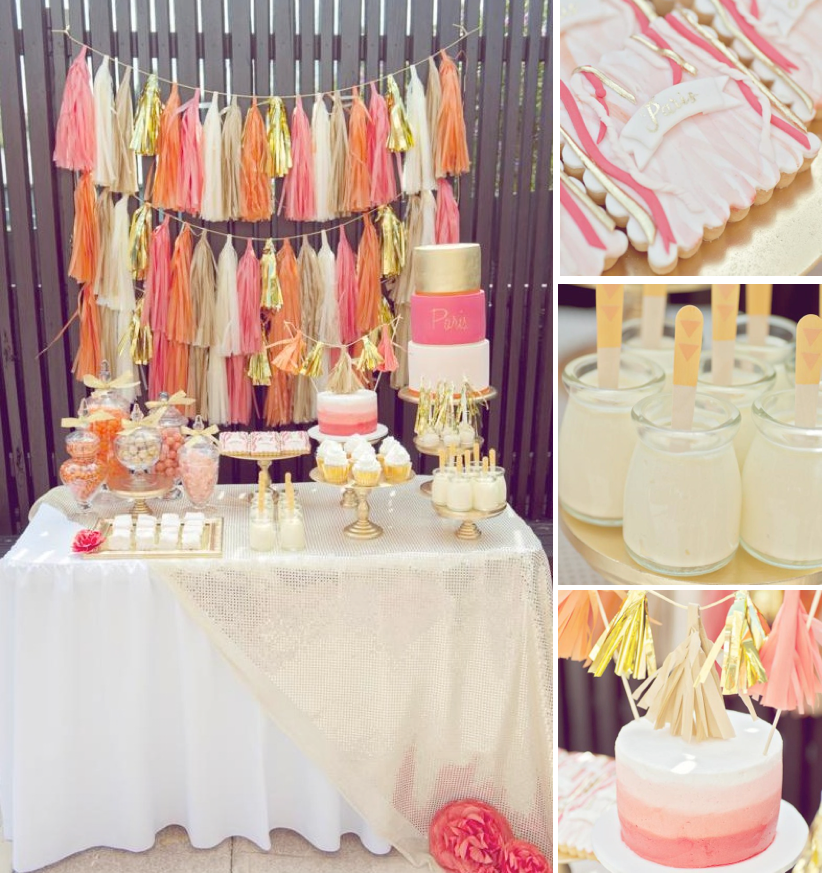 Kara S Party Ideas Orange Pink Gold Vibrant Girl1st