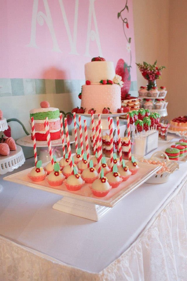 karas party ideas strawberry shortcake girl 2nd birthday