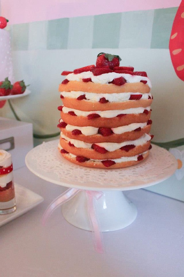 Kara S Party Ideas Strawberry Shortcake Girl 2nd Birthday