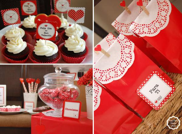 Kara 39 s party ideas love letter valentine 39 s day party - Decoraciones para san valentin ...