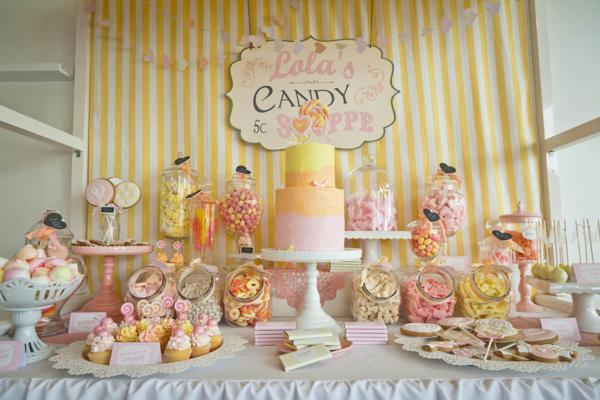 Kara S Party Ideas Vintage Candy Sweet Shoppe Girl 6th