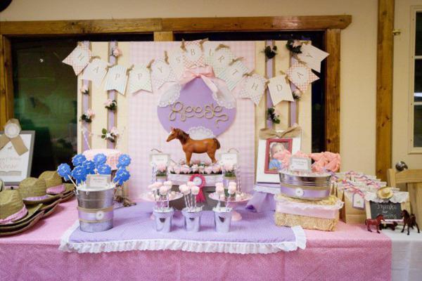 Kara's Party Ideas Girl Vintage Horse Cowboy Themed 5th ...