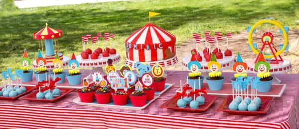 Kara S Party Ideas Circus Carnival Themed Boy Girl 1st